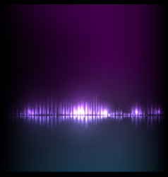 blue-purple wave abstract equalizer vector image