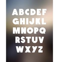 Bold alphabet font type alphabet vector image