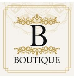 Boutique with ornament design vector