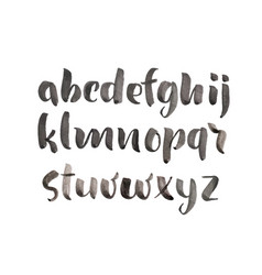brush style hand drawn alphabet watercolor vector image
