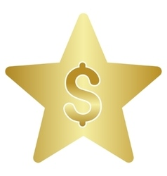Business Class Star Gradient Icon vector