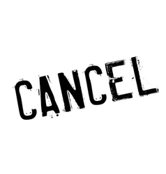 Cancel rubber stamp vector