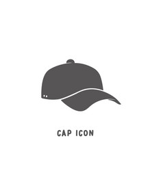 cap icon simple flat style vector image
