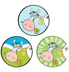 Cartoon cow design vector