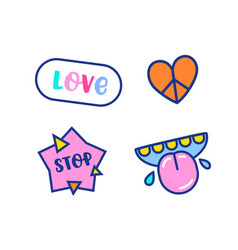 cartoon elements anti bullying and friendship vector image
