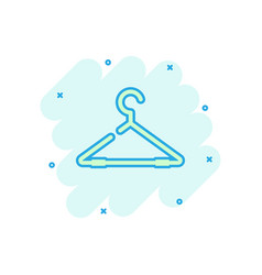 cartoon hanger icon in comic style wardrobe vector image