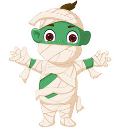 cartoon mummy standing vector image