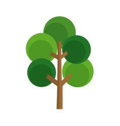 Cartoon tree natural botanic image vector