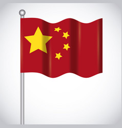 China flag design vector