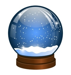 Christmas snow globe with falling snow vector