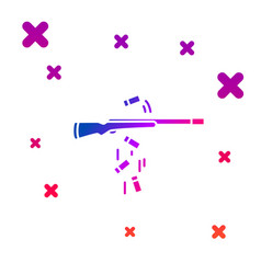 Color gun shooting icon isolated on white vector
