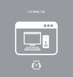 computer application - flat minimal icon vector image