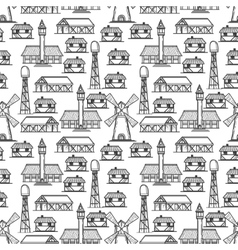 country seamless pattern vector image