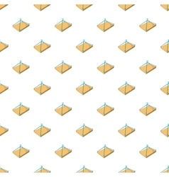 Crane with platform pattern cartoon style vector