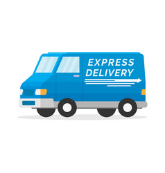 delivery van with shadow on white background vector image