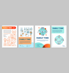 family time brochure template layout walk in park vector image
