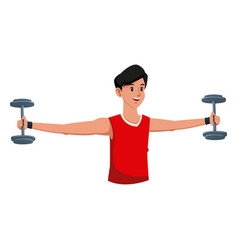 fitness man weight gym workout vector image