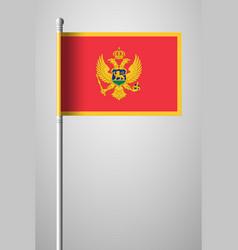 Flag of montenegro national flag on flagpole vector