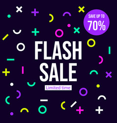 flash sale banner poster vector image