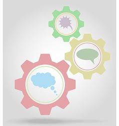 gear mechanism concept 17 vector image