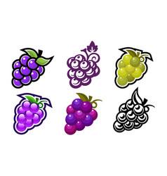 Grape design icons vector