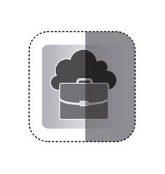 gray cloud suitcase network icon vector image
