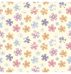 Grunge flower pattern vector