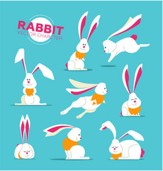 Happy easter - modern set of vector