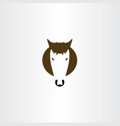 horse symbol logo sign vector image