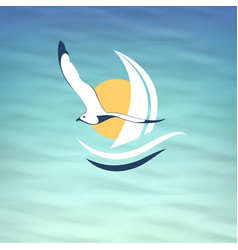 Icon seagull vector