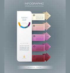 Infographics timeline design vector