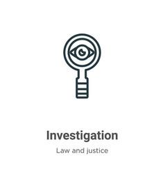Investigation outline icon thin line black vector