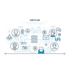 job plan time management organization planning vector image