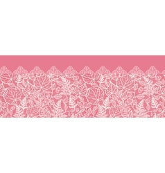 Lace leaves horizontal seamless pattern background vector image