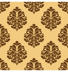 Light and dark brown seamless damask pattern vector
