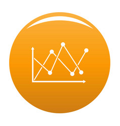 line diagram icon orange vector image