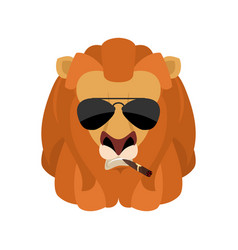 lion cool serious avatar of emotions wild animal vector image
