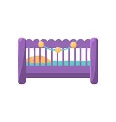 Little Baby Bed vector image