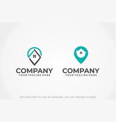 location house logo vector image