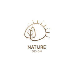 logo nature elements simple decorative vector image