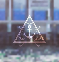 Logo Template for Sea Fooda Bar Grill Restaurant vector image