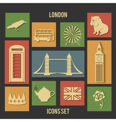 London flat icons vector