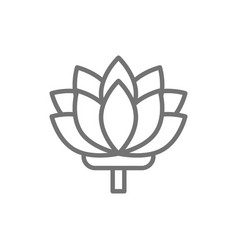 lotus indian flower line icon vector image