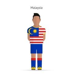 Malaysia football player Soccer uniform vector