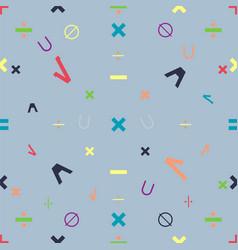 maths symbols vector image