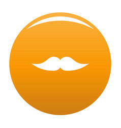Movie whiskers icon orange vector