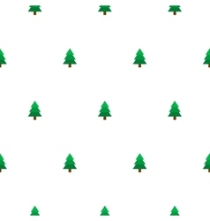 New Year tree simple seamless pattern vector image