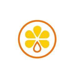 Orange fruit juice nutrition logo vector