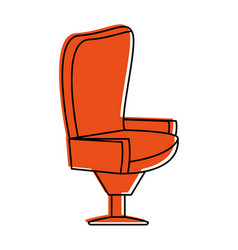 Padded chair icon image vector