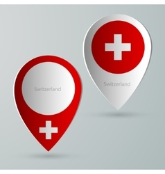 Paper of map marker for maps switzerland vector